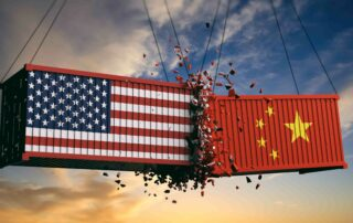 Dus is settling down between US CHINa freight rate Alfa Logistic Family